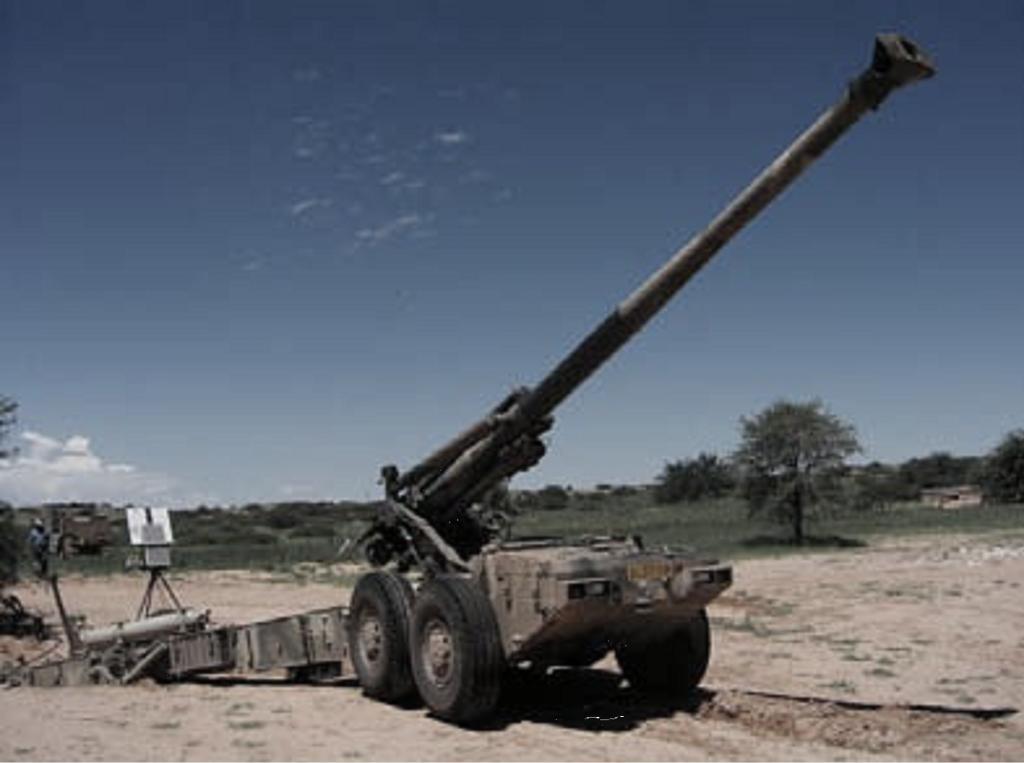 图5: 155mm G5 榴弹炮和精确弹药